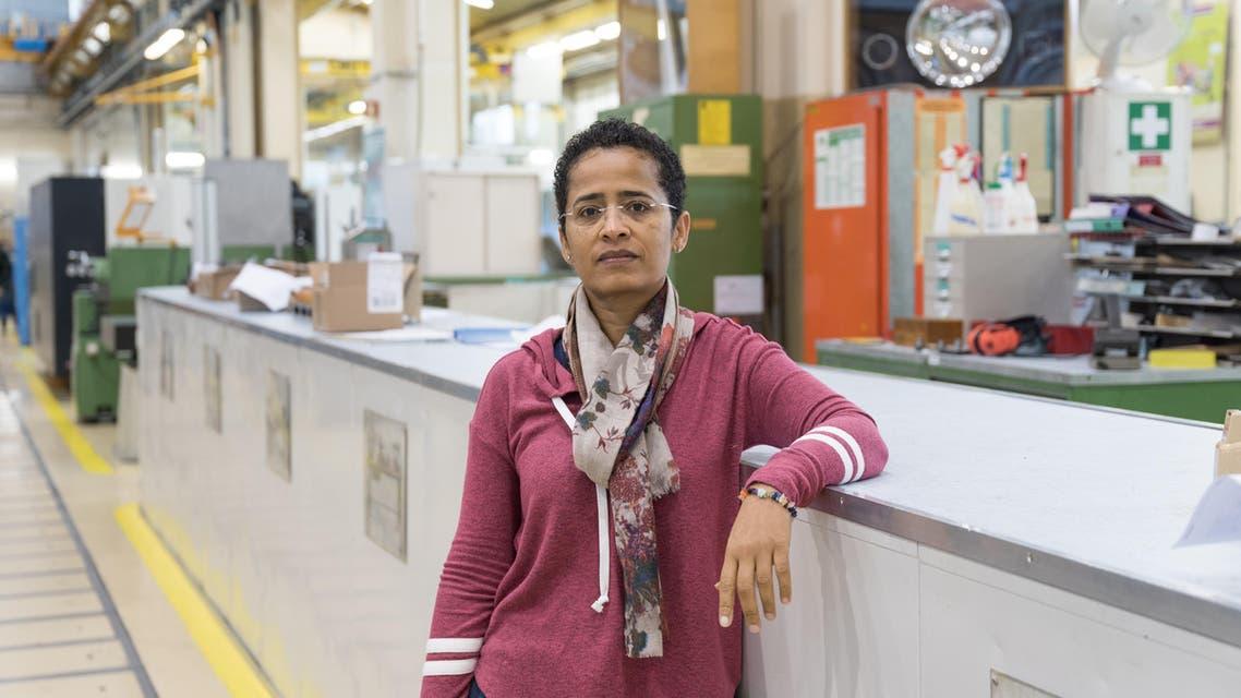 Aisha Juma during her residency at CERN, Geneva, October 2016. (Photo: Sophia Bennett)