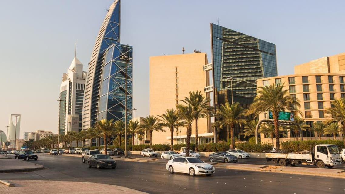 King Fahd's street road in Riyadh in daylight with skyscrapers and other buildings on the back Shutterstock Saudi Arabia