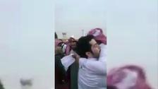 Moment a Saudi murder victim's family pardons killer