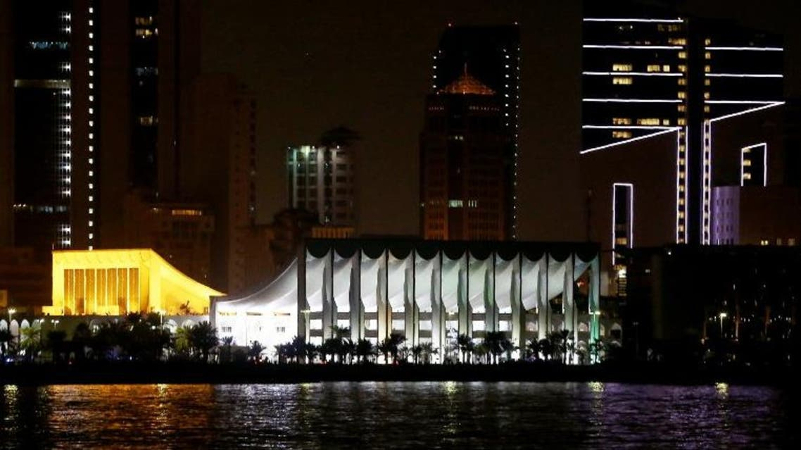 A picture shows Kuwait's national assembly as seen from the sea side in Kuwait City on November 5, 2106. AFP