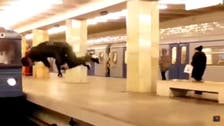 Watch: The Russian who throws himself in front of trains