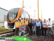 بالصور.. المسار البرتقالي يستقبل أولى عربات قطار الرياض