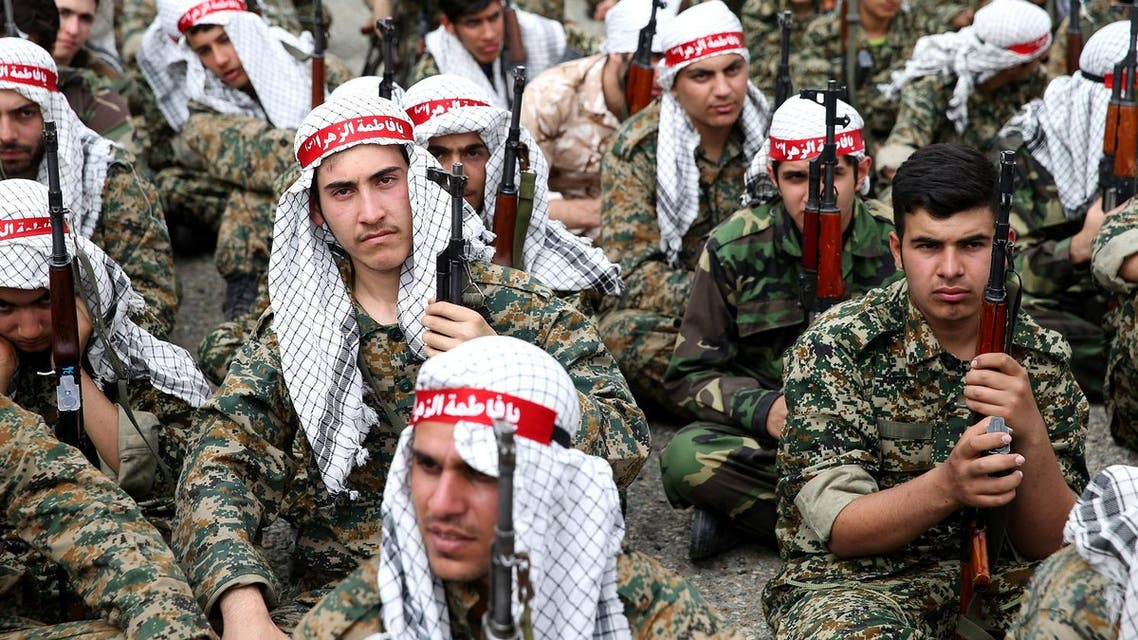 A group of Iranian paramilitary Basij forces, affiliated to the Revolutionary Guard, sit while attending training in a Guard base in northeastern Tehran, Iran (File Photo: AP/Ebrahim Noroozi)