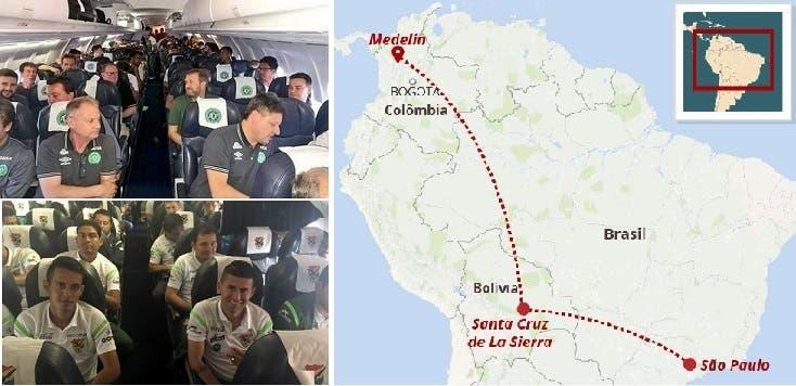 أقلعت من سنتا كروز دي لا سييرا، لتنقل الفريق الكروي من سان باولو الى مصير دموي بأدغال كولومبيا