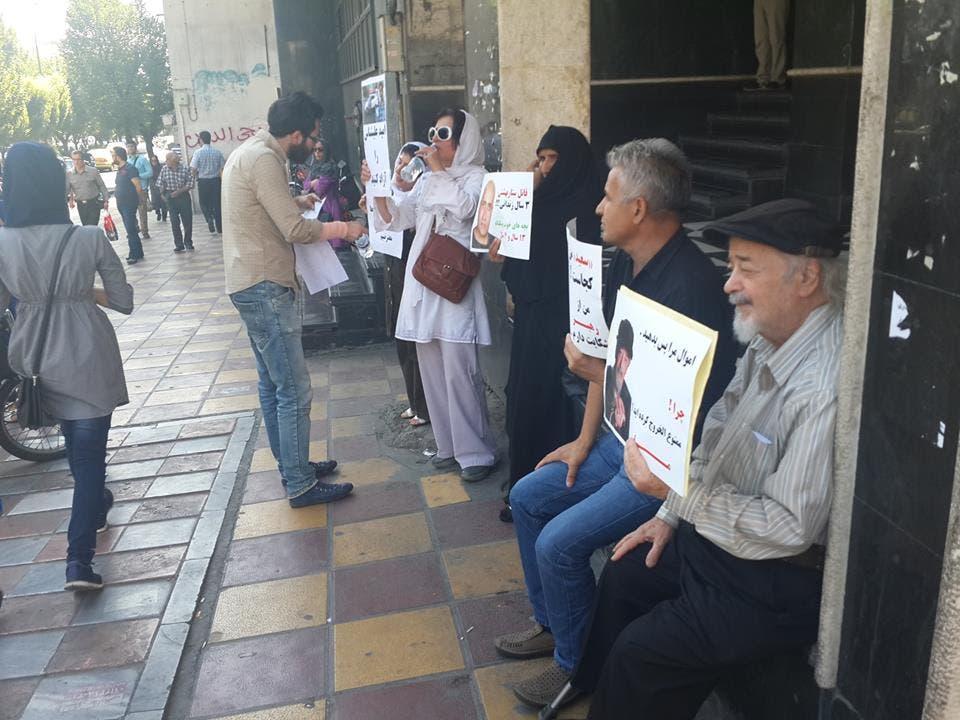 ملكي في احتجاج للمطالبة باطلاق سراح السجناء السياسيين