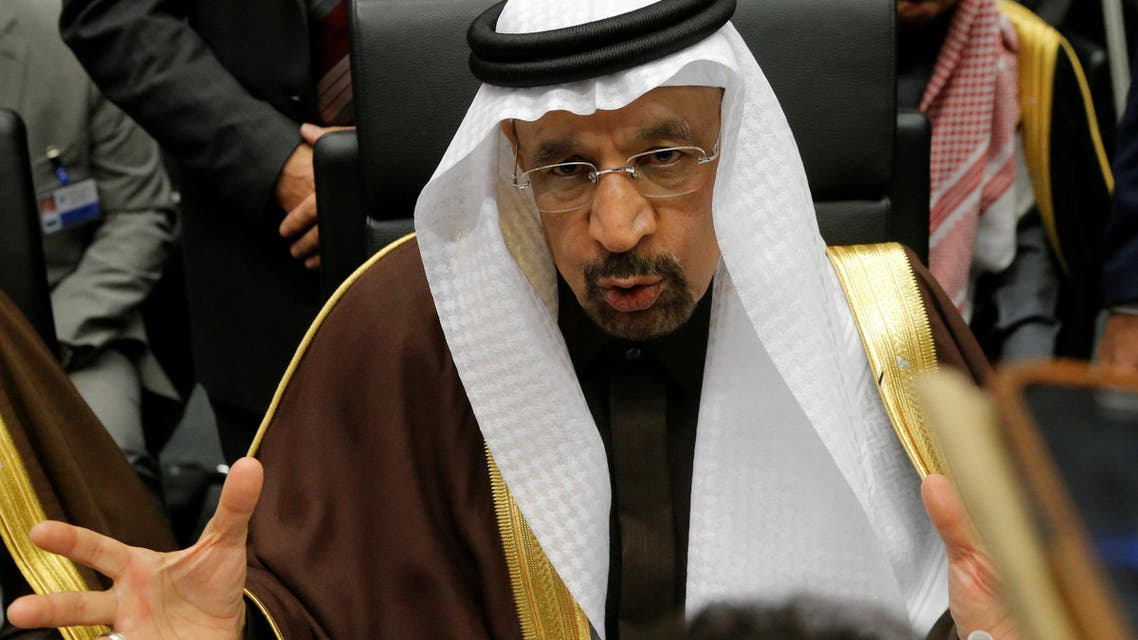Saudi Arabia's Energy Minister Khalid al-Falih talks to journalists during a meeting of the Organization of the Petroleum Exporting Countries (OPEC) in Vienna, Austria, November 30, 2016. (Reuters)