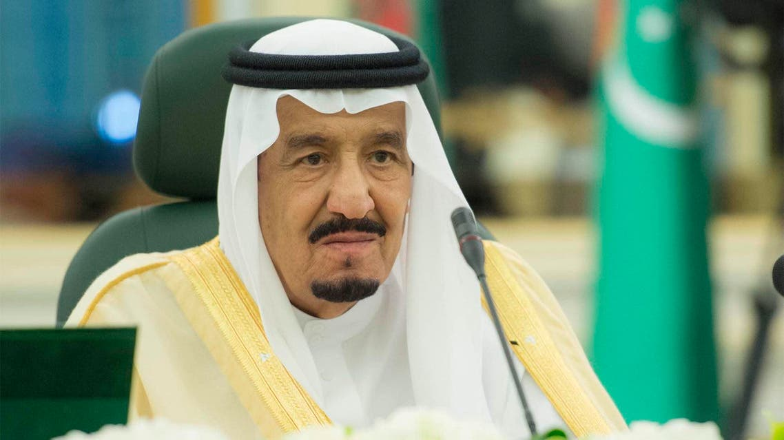 A handout picture provided by the Saudi Royal Palace on May 1, 2016 shows Saudi King Salman bin Abdulaziz al-Saud during a meeting with Turkmen President in Riyadh.  BANDAR AL-JALOUD / Saudi Royal Palac / AFP