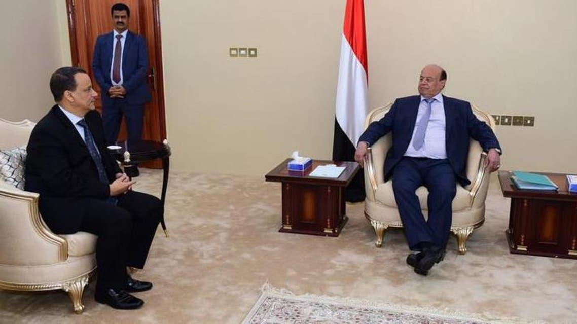 لقاء هادي وولد الشيخ أحمد في عدن
