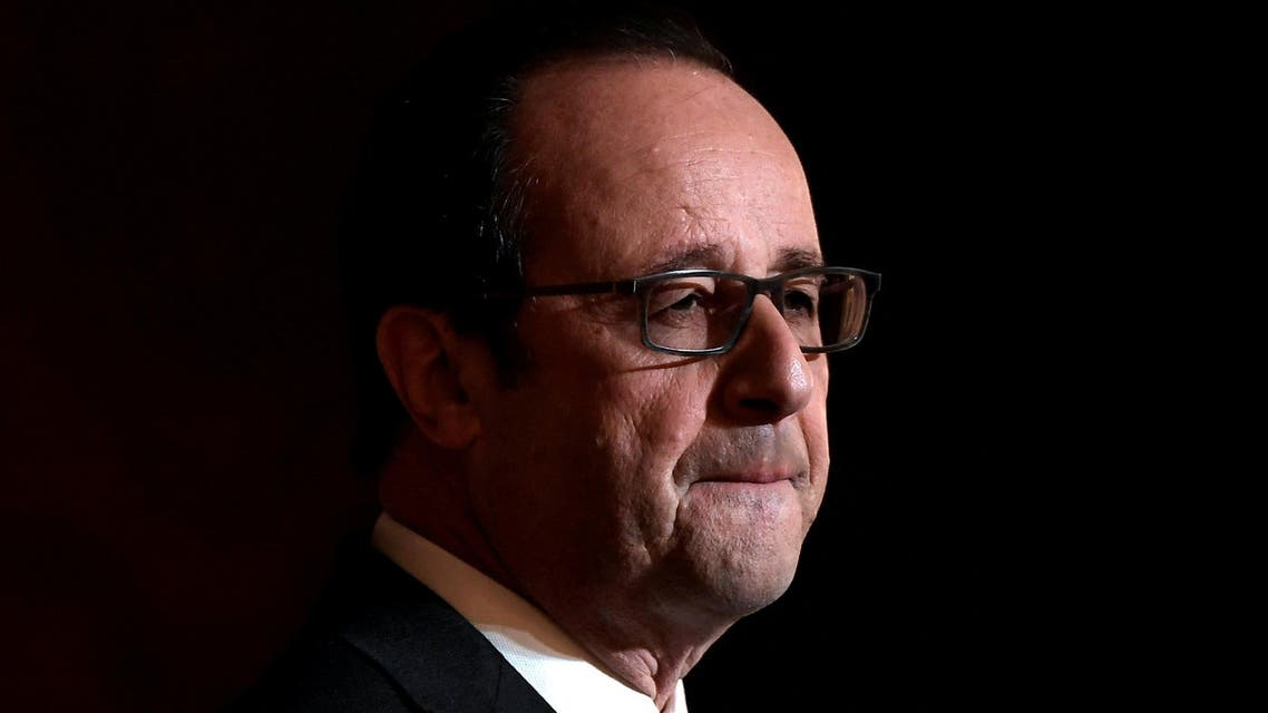 French President Francois Hollande delivers a speech after awarding Olympic and Paralympic athletes the Legion of Honour (Legion d'Honneur) at the Elysee Palace in Paris, France, December 1, 2016. reuters