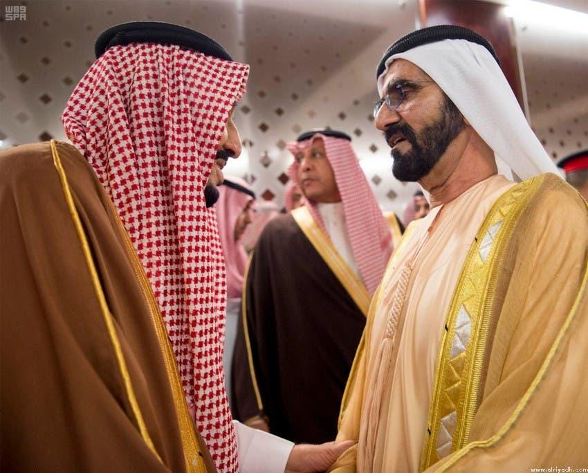 العاهل السعودي والشيخ محمد بن راشد