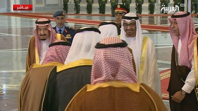 وصول العاهل السعودي إلى أبوظبي