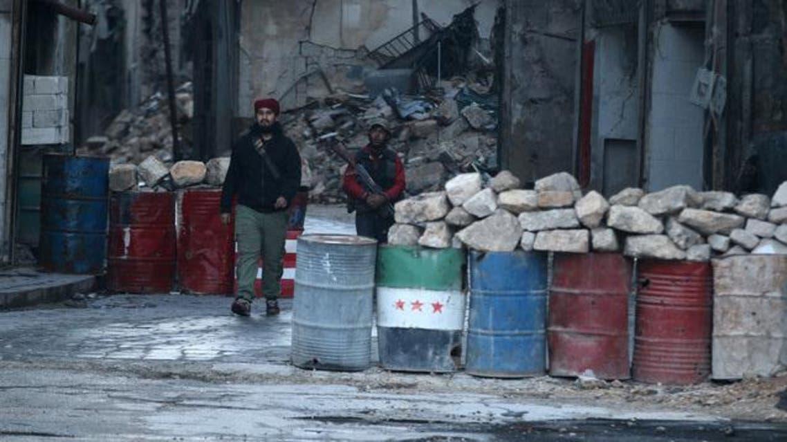 مقاتلون من المعارضة في شرق حلب