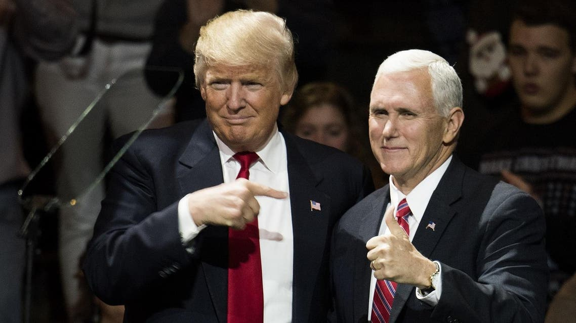 AFP  President-elect Donald Trump and Vice President-elect Mike Pence stand onstage together at U.S. Bank Arena on December 1, 2016 in Cincinnati, Ohio.