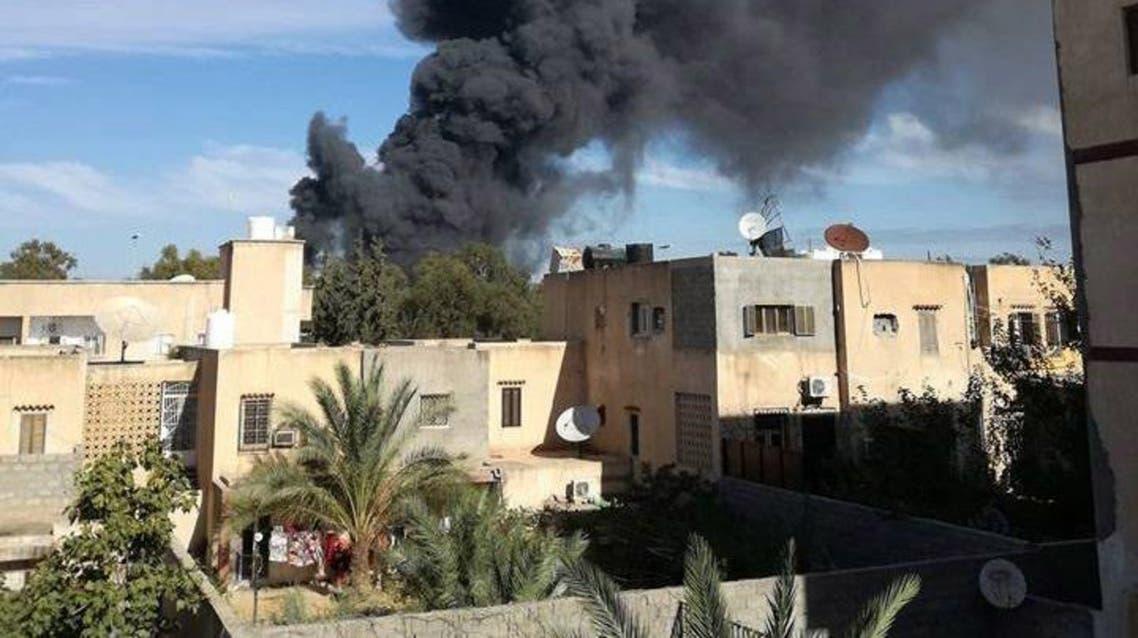 جانب من الاشتباكات في طرابلس حسب ما نقله ناشطون على مواقع التواصل الاجتماعي