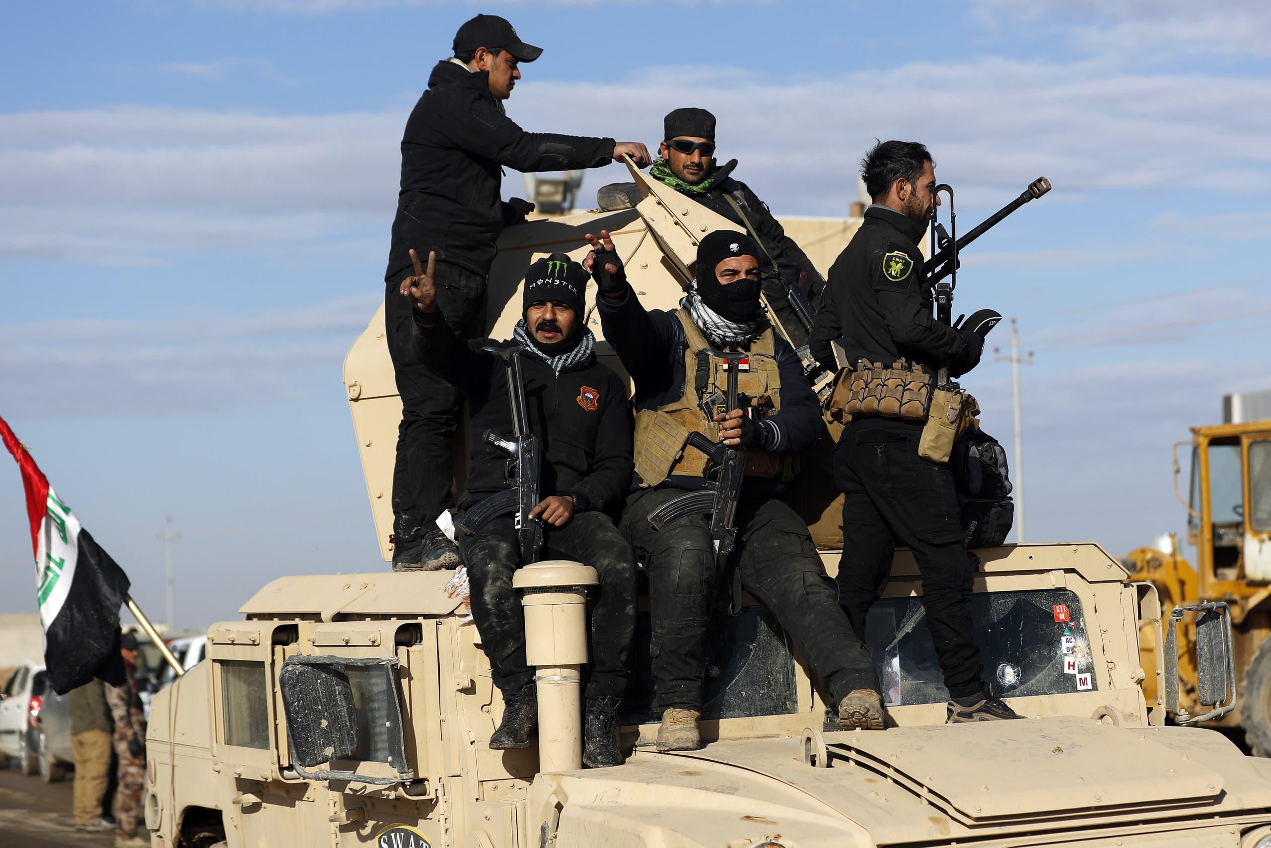 نیروهای پلیس فدرال عراق در شمال موصل
