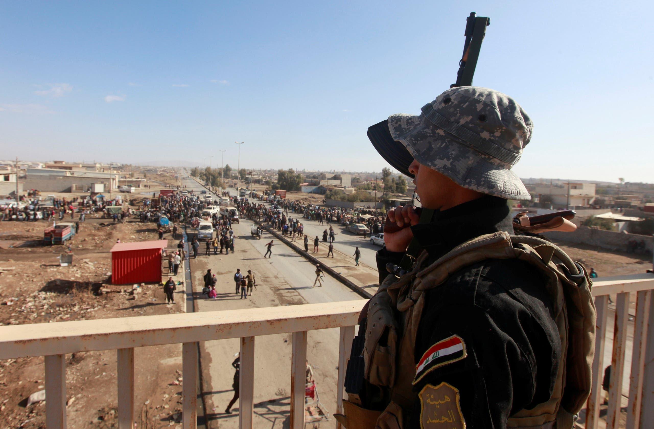 نیروهای سازمان مبارزه با تروریسم عراق در شرق موصل