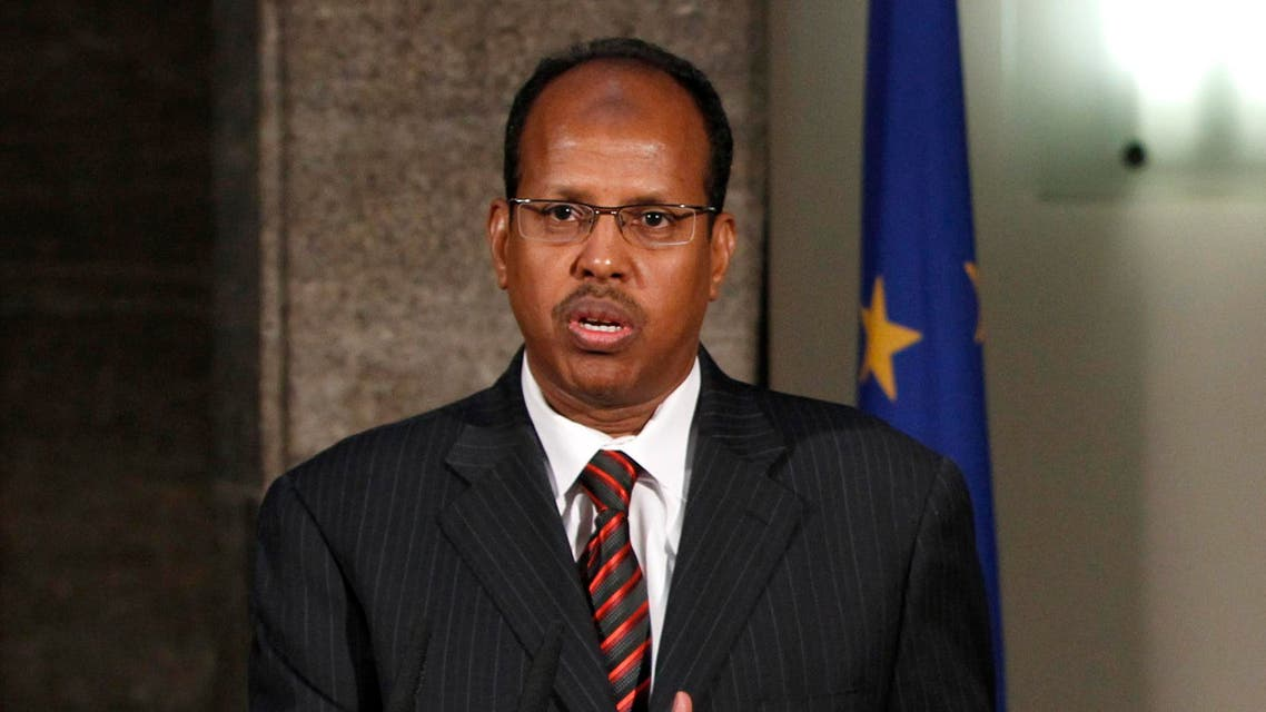 Djibouti Foreign Minister Youssouf speaks during news conference reuters