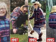 صور نادرة لكلينتون بجاكت حرصت على ارتدائه 20 عاماً
