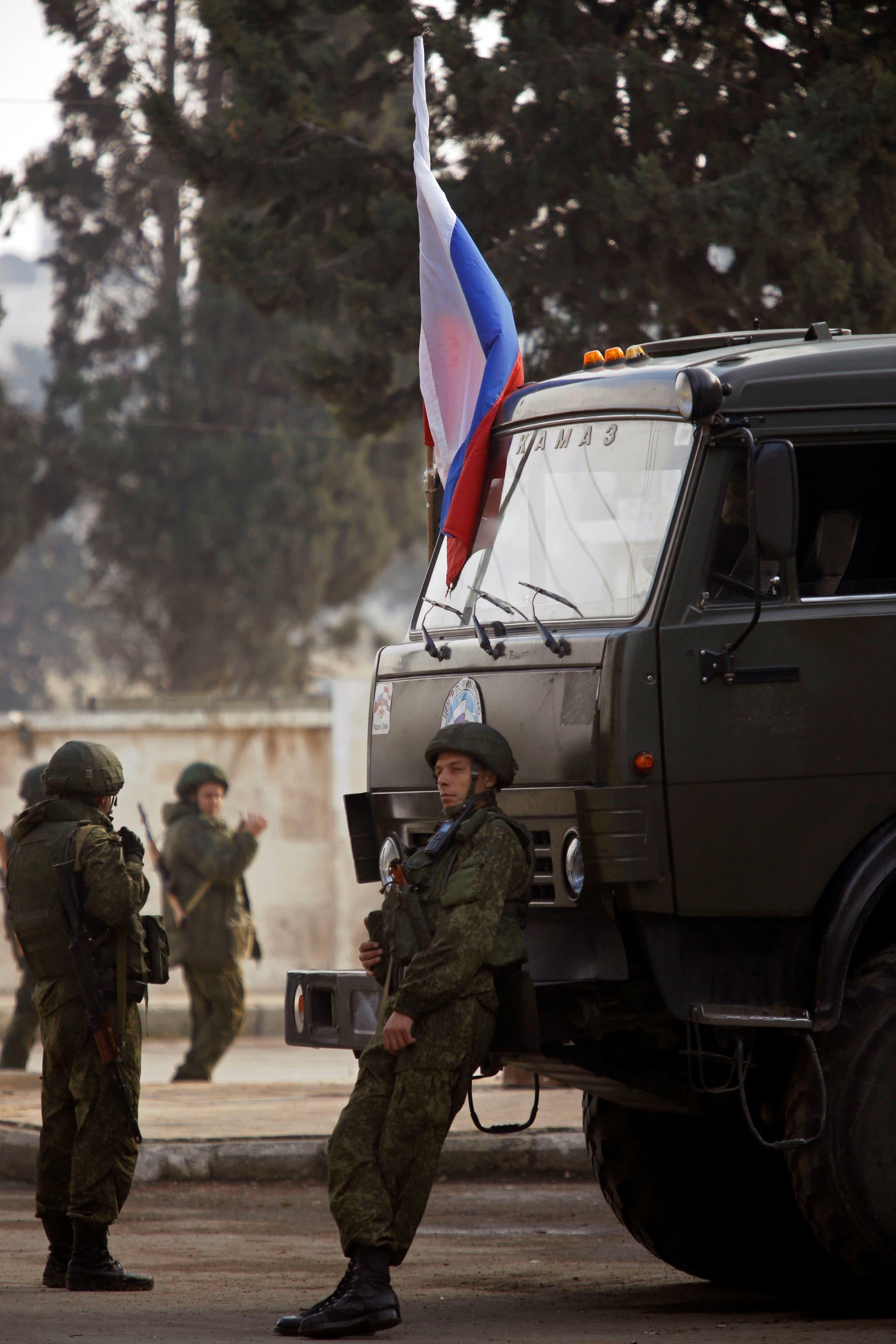 نظامیان روس در شهر حلب