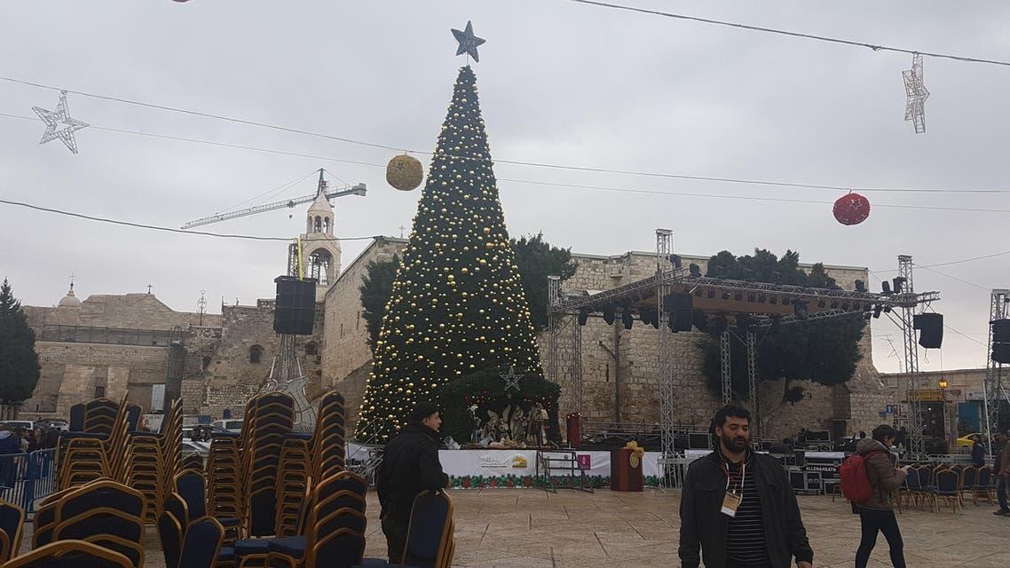 شجرة الميلاد في بيت لحم
