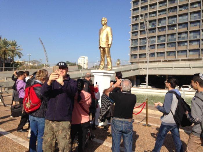 التمثال أثار دهشة الإسرائيليين