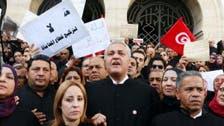 تونس.. آلاف المحامين يتظاهرون أمام قصر الحكومة