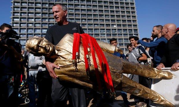الحكومة الإسرائيلية قررت إزالة التمثال