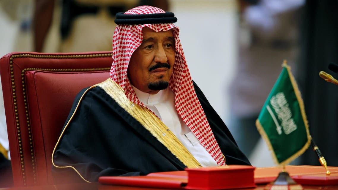 Saudi King Salman bin Abbulaziz Al-Saud attends the Gulf Cooperation Council's (GCC) 37th Summit in Manama, Bahrain, December 6, 2016. (AP)