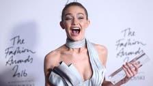 Gigi Hadid crowned model of year at Fashion Awards