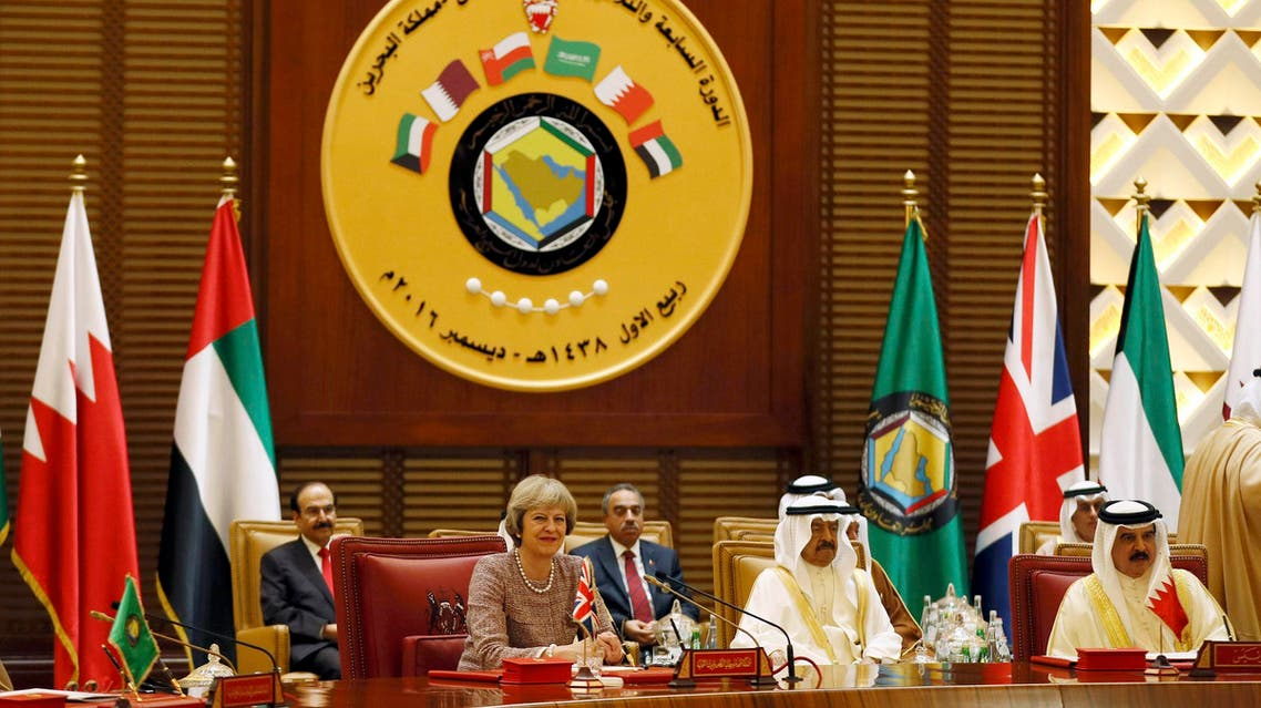Britain's Prime Minister Theresa May attends the Gulf Cooperation Council (GCC) Summit in Manama, Bahrain December 7, 2016. REuters