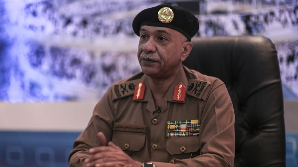 Saudi Interior Ministry spokesman Maj. Gen. Mansour al-Turki speaks during an interview with The Associated Press at a security monitoring center in Mecca, Saudi Arabia, Saturday, Sept. 19, 2015. (AP)