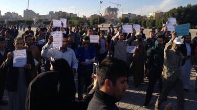 بالصور.. مظاهرات في الأهواز ضد حرف الأنهر وتدمير البيئة
