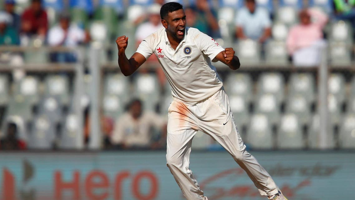 India's Ravichandran Ashwin celebrates the wicket of England's Jonny Bairstow. (Reuters)