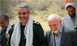العميد غلام حسين غيب بور مع الجنرال همداني الذي قتل في سوريا