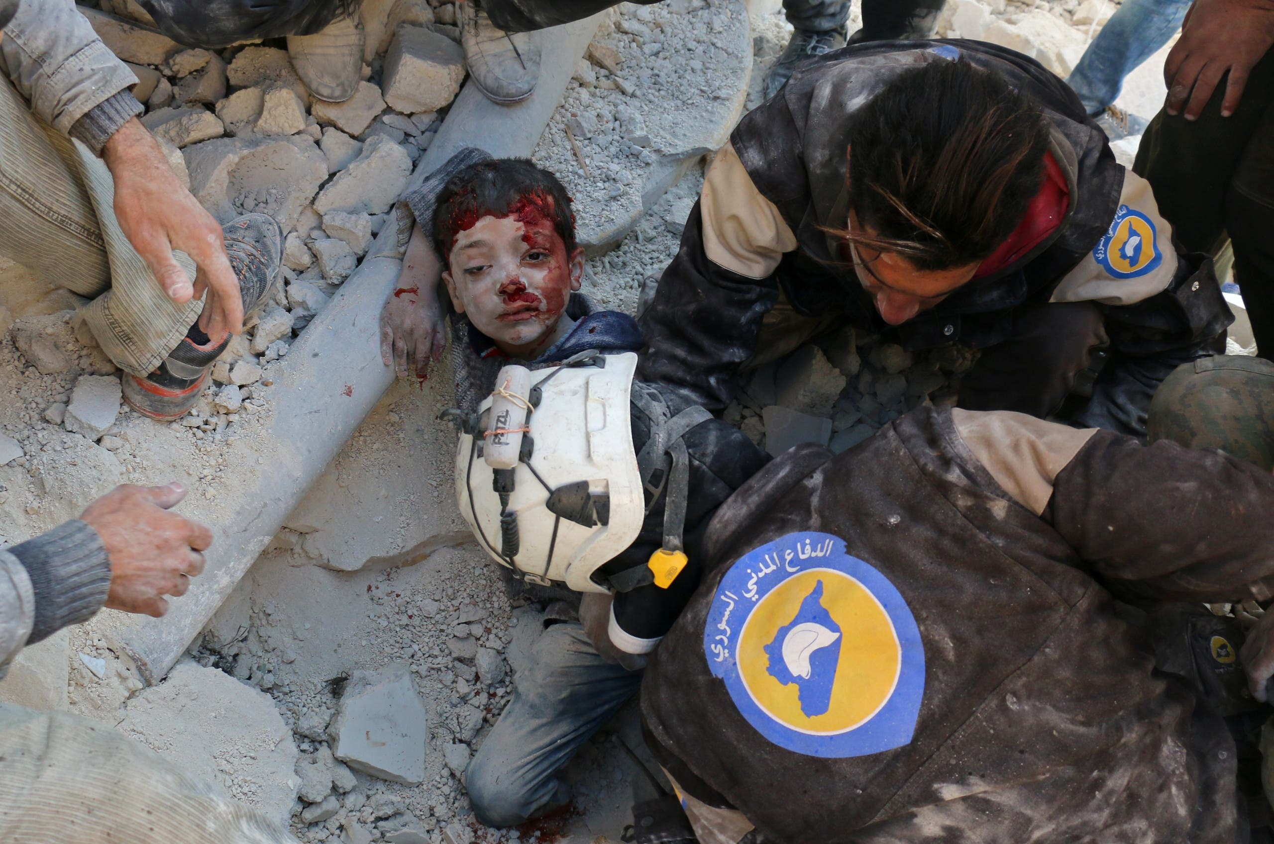 Syrian government artillery bombarded the fast-shrinking rebel enclave in the heart of Aleppo. (AFP)