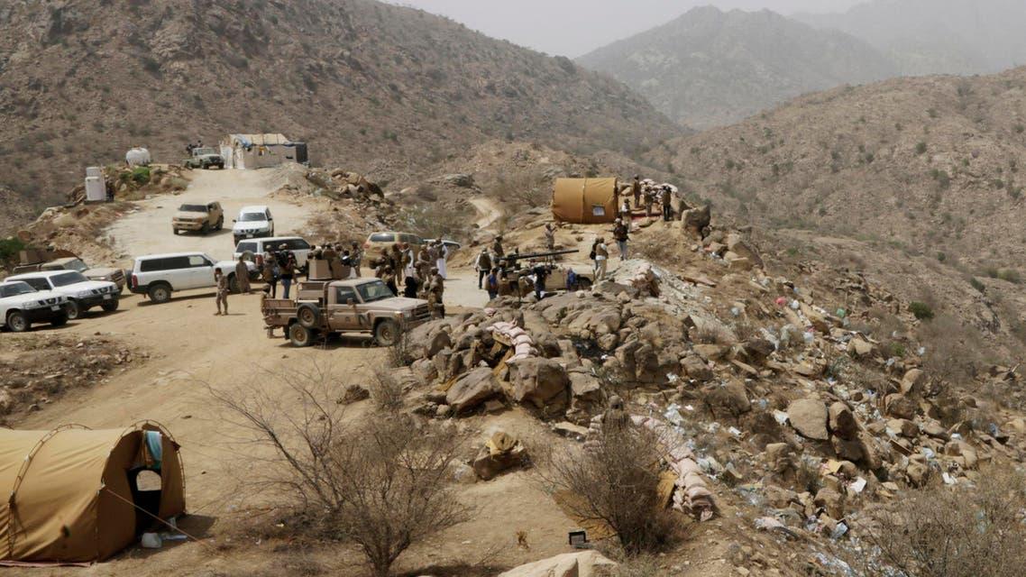 In this Monday, April 20, 2015 file photo, Saudi soldiers work at the border with Yemen in Jazan, Saudi Arabia. (AP)