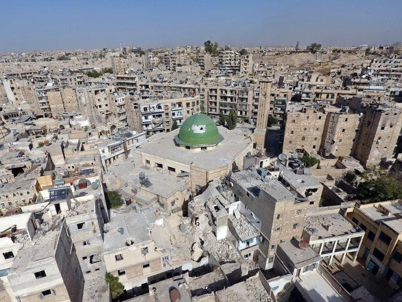 لقطات مصورة لطائرة من دون طيار تظهر حجم الدمار في حلب