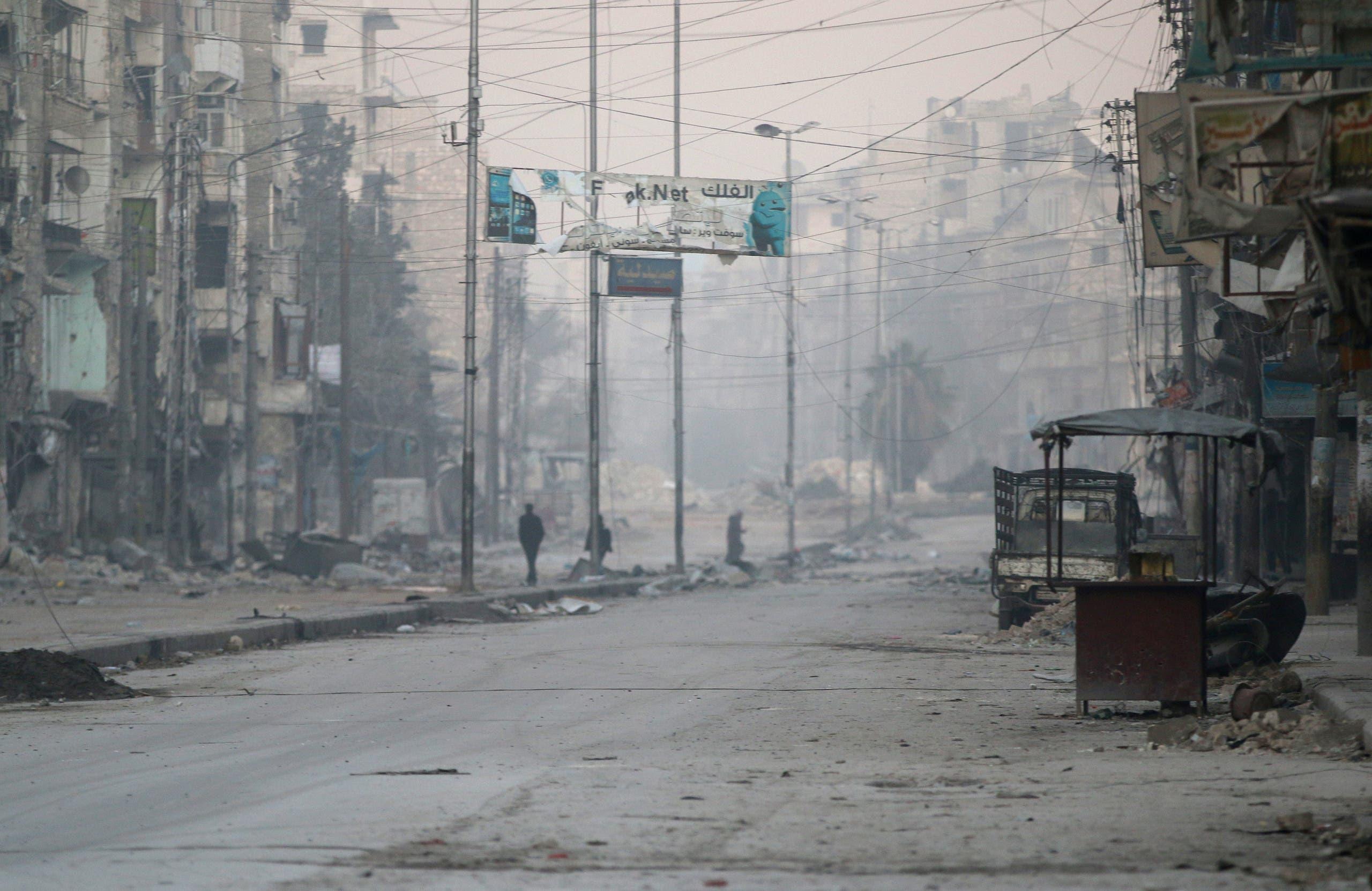 الدمار في حلب الشرقية