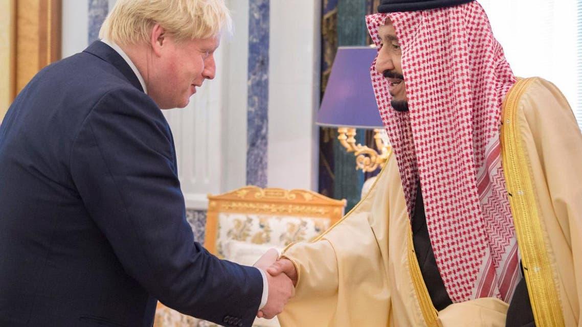 saudi king salman with boris johnson