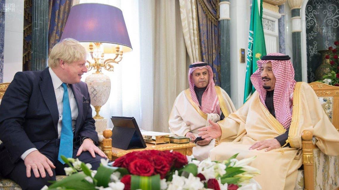 الملك سلمان ووزير الخارجية البريطاني