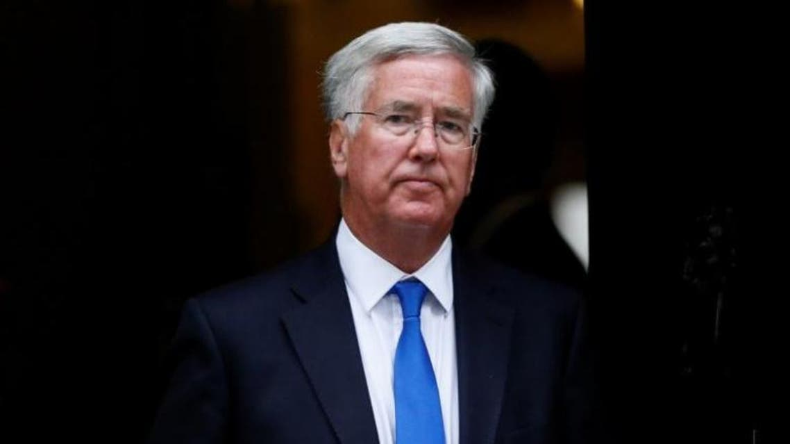 Britain's Secretary of State for Defence Michael Fallon leaves after attending a cabinet meeting at Number 10 Downing Street in London, on September 8, 2015. (Reuters)