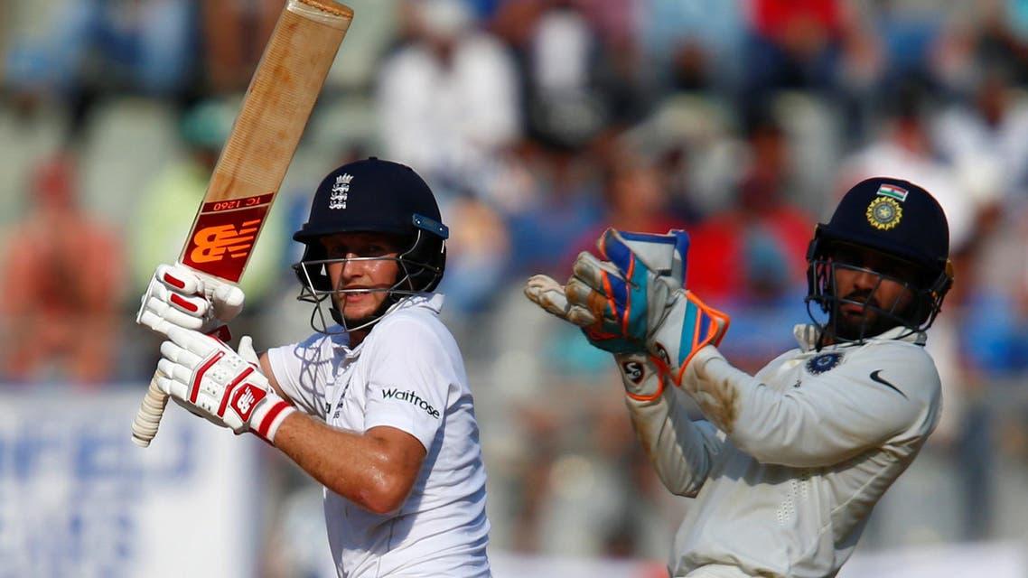 England's Joe Root plays a shot. (Reuters)