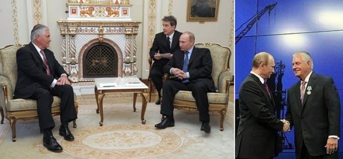 وسام الصداقة الروسي على صدره، وجلسة مع بوتين في حضور مترجم