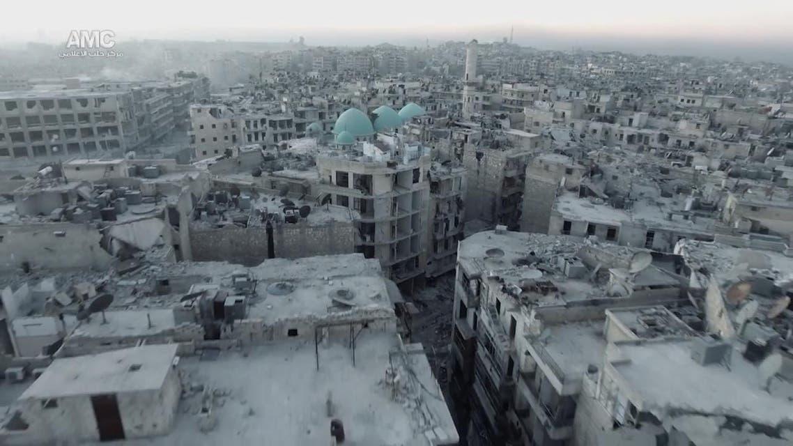 THUMBNAIL_ شاهد من الجو دمار حي الشعار #حلب
