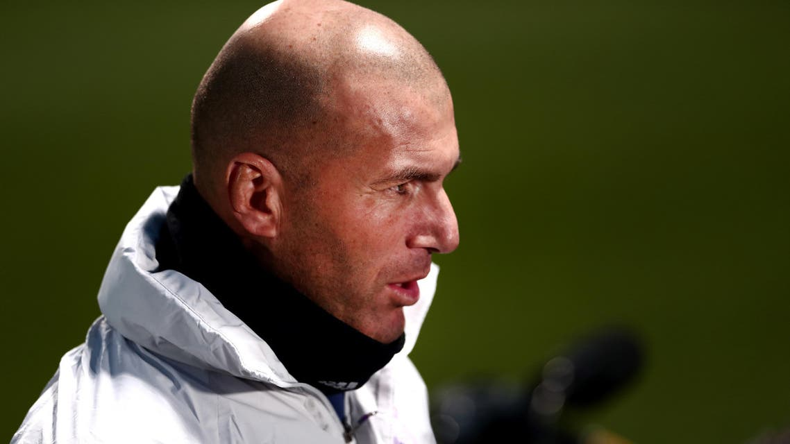 Real Madrid's French headcoach Zinedine Zidane speaks with the media prior to a training session at Mitsuzawa stadium in Yokohama on December 12, 2016 ahead of their Club World Cup football match against Club America of Mexico on December 15. AFP