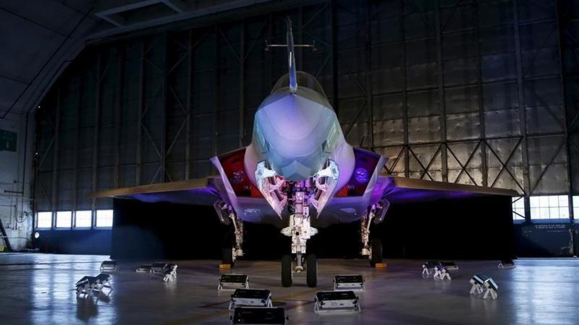 A Lockheed Martin F-35 Lightning II fighter jet is seen in its hanger at Patuxent River Naval Air Station in Maryland October 28, 2015. REUTERS