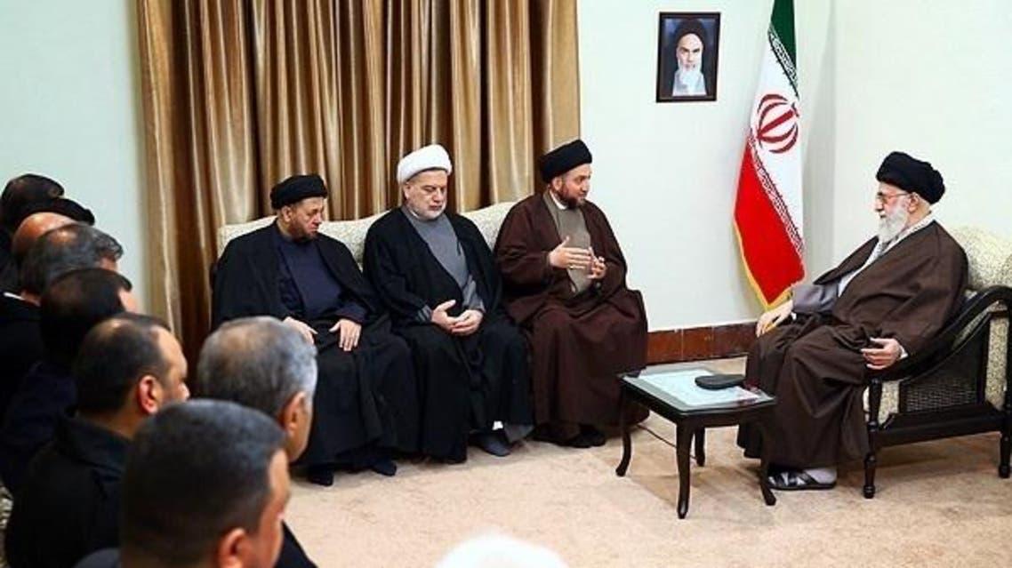 خامنئي يستقبل قادة التحالف العراقي الشيعي