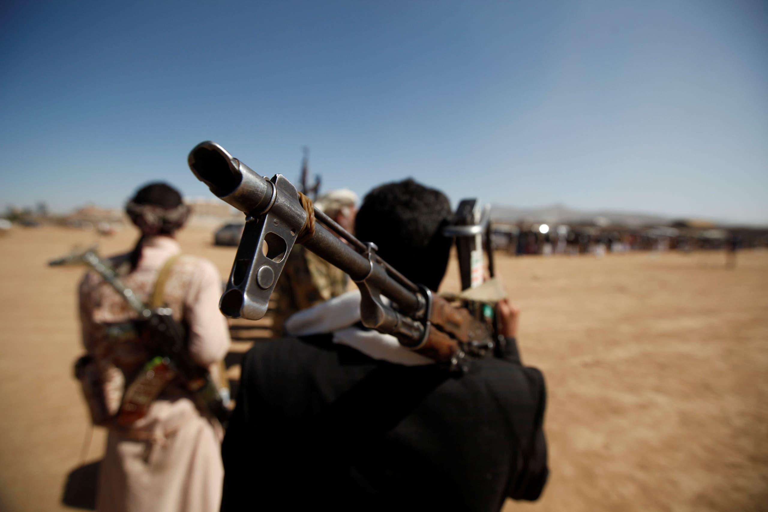 عناصر تابعة لميليشيات الحوثي في صنعاء