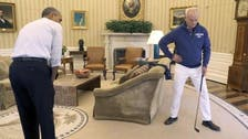 WATCH: Obama, Bill Murray discuss health insurance over a friendly game of golf