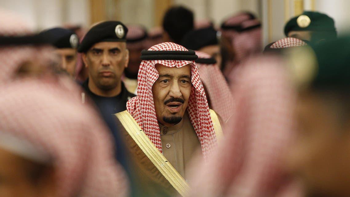In this Jan. 24, 2015 file photo, Saudi Arabia's King Salman attends a ceremony at the Diwan royal palace in Riyadh. (AP)